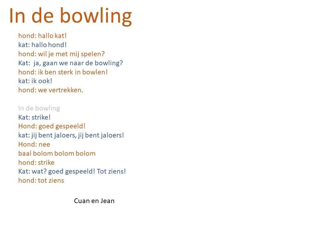 In de bowling